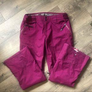 Oakley Purple Snowboarding Pants Size Large